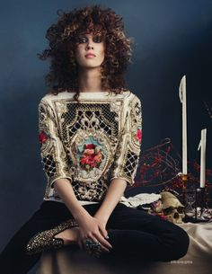 balmain 2013 vogue uk september 2012 Metamorphos nice combain :) like it ! Moda Fashion, High Fashion, Womens Fashion, Daily Fashion, Christophe Decarnin, Curly Hair Styles, Natural Hair Styles, Ellie Saab, Mode Editorials