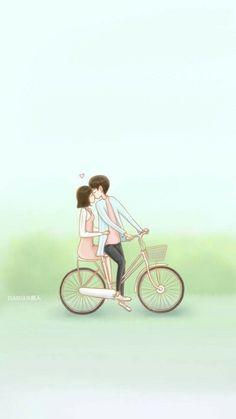 The Liar and His love fanart dabian 超人 Love Cartoon Couple, Chibi Couple, Cute Love Cartoons, Anime Love Couple, Lovely Love Lie Drama, A Love So Beautiful, Cute Couple Drawings, Cute Couple Art, Kdrama