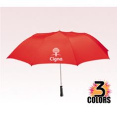 You can choose from bevy of bright colors and see how your brand impressions show up against them.  #golf #logo #freesetup #umbrellas