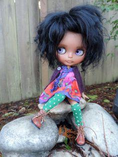 Poppy a OOAK Custom Blythe Art Doll by BeBe Blythe by BeBeBlytheCo
