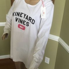 Soft and cozy 100% cotton bright white new with tags Vineyard Vines Tops Tees - Long Sleeve