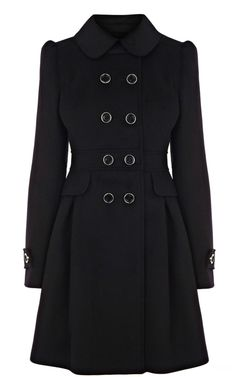 2013 Latest Karen Millen Classic investment coat Black