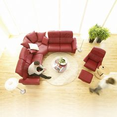 Stressless® Paradise Leather Reclining Sectional by Ekornes®