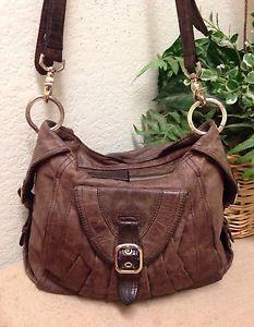 Junior Drake Brown Leather Slouchy Messenger Crossbody Bag Shoulder Handbag  VGUC   eBay bb9dcb4141