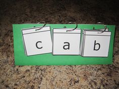 Phonics word building flip cards - cool idea to use for anything.  Could have a picture at the end for a prompt