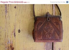 1900s Tooled Leather Purse Jemco Purse by SassySisterVintage, $99.20