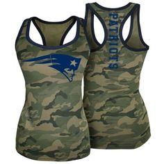 New England Patriots 5th & Ocean by New Era Women's Racerback Tank Top - Camo