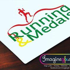 Terminada a criação do logo para a página www.runningandmedals.pt /  Finished the logo for the page www.runningandmedals.pt  #brand #publicidade #ImagineGFX #publicity #brands #branding #designgrafico #design #graphicdesign #marketing #projecto #project #running #medals #runningandmedals #run #exercise #portugal