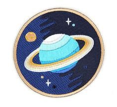 Galaxy Planets Iron On Patch by MokuyobiThreads on Etsy, $5.00