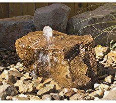 Mesa Bubbler Rock Kit The Mesa is a raised plateau with water falling off from a single outlet. (Rock x x Complete Bubbler Rock Kit comes with x x Reservoir (Approx 30 Gallons), 200 gallon per hour pump, On/Off Valve, Hose, and Fittings Rock Fountain, Waterfall Fountain, Fountain Ideas, Rock Waterfall, Garden Waterfall, Tabletop Fountain, Outdoor Water Features, Water Features In The Garden, Landscaping With Rocks