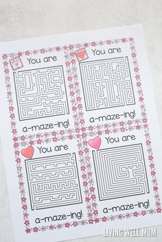 Perfect for busy moms who don't have time for a fancy craft projects with their kids, these free printable valentines are a fun quick and easy activity. Valentines Day Activities, Valentines Day Party, Valentines For Kids, Valentine Day Crafts, Homemade Valentine Cards, Printable Valentine, Holiday Fun, Holiday Crafts, Happy Hearts Day