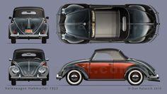 A Garagem Digital de Dan Palatnik | The Digital Garage Project: VW Cabriolet 1962 e Hebmuller 1952