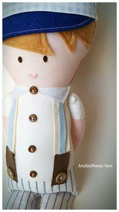"""Bambole di stoffa collezione """"Le Tate""""  https://www.facebook.com/AmAbilMenteVero/"""