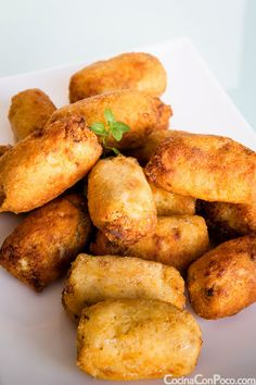 Croquetas de Setas - Receta paso a paso Mushroom Recipes, Veggie Recipes, Appetizer Recipes, Vegetarian Recipes, Appetizers, Spanish Dishes, Spanish Tapas, Empanadas, Guisado