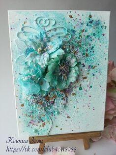 Скрапбукинг, Card with flowers