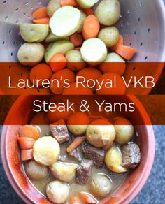 Lauren's Royal VKB Steak & Yams Recipe