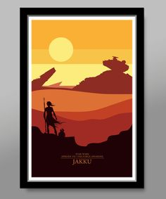 Star Wars Inspired Minimalist Movie Poster Set by BigTimePosters