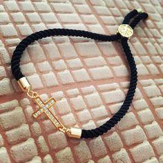 Čierny zirkónový náramok s krížikom, MBZ023 Bracelets, Jewelry, Fashion, Jewerly, Moda, Jewlery, Fashion Styles, Schmuck, Jewels