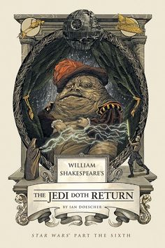 William Shakespeare, Star Wars Books, Star Wars Art, Luke Skywalker, Nicolas Delort, New York Times, Jedi Ritter, Jabba The Hutt, Fanart