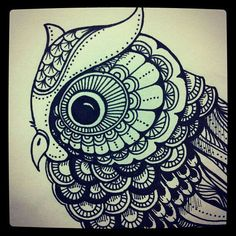 Image result for zentangle owl