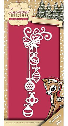 Available Now! Find It Trading Yvonne Creations Traditional Christmas Die - Christmas Decoration - Google Search