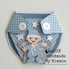 100% Handmade By Rimmie: Gift-card baby boy!