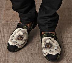 McQueen Men's Floral Loafers