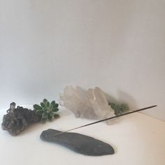 A personal favorite from my Etsy shop https://www.etsy.com/listing/232133006/a-slateshale-incense-holder-with-1