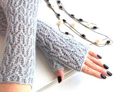 Fingerless Mittens. Knit Fingerless Mittens. Knit by MallinaDesign, $32.00