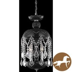 @Overstock.com - Christopher Knight Home Black 3-Light Crystal Chandelier - Update your room with a touch of gothic elegance with the addition of this black crystal chandelier. The unique black-tinted base of this chandelier gives the light from the three bulbs a soft, diffuse glow that will warm up the entire room.  http://www.overstock.com/Home-Garden/Christopher-Knight-Home-Black-3-Light-Crystal-Chandelier/6428287/product.html?CID=214117 $179.99