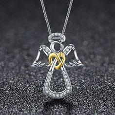 Cheap Silver Rings For Women Guardian Angel Necklace, Marcasite Jewelry, Diamond Jewelry, Cheap Silver Rings, Couple Jewelry, Necklace For Girlfriend, Heart Pendant Necklace, Angel Pendant, Necklace Price