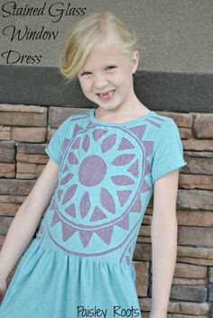 Paisley Roots: PR&P Design Your Own Fabric: Stained Glass Window Dress