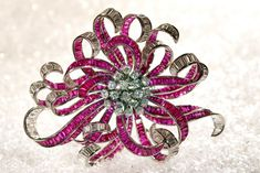 Boucheron Ruby and Diamond Brooch