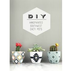 Such a fun and easy weekend DIY!   Perfect for sprucing up your porch or windowsill this summer.              We found a few 97 cent planters that were in great shape,...