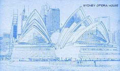 Big ben in london blueprint drawing greeting card for sale by sydney opera house blueprint drawing malvernweather Choice Image