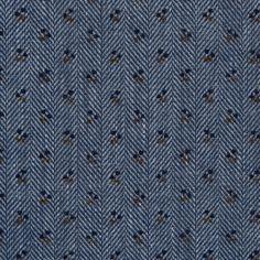 Blue Indigo Floral Printed Cotton Dobby Jacquard