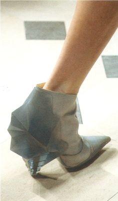 Balenciaga AW08 Bootie Boots, Ankle Boots, Balenciaga, Origami, Creativity, Design Ideas, Booty, How To Wear, Bags
