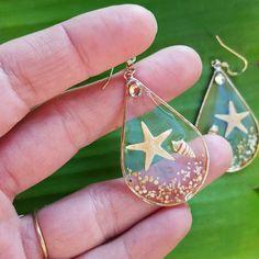 Resin seashell earrings