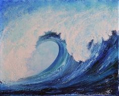 SURF no.2 Painting  - SURF no.2 Fine Art Print art by TERESA WEGRZYN
