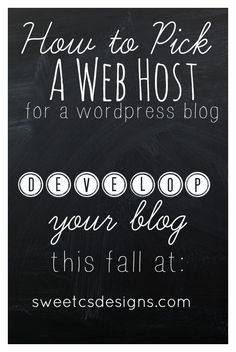 how to pick a web host- this is a great guide for beginning or established bloggers! Includes some good tips to keep yourself protected, too.