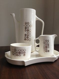 Vintage Mid Century Modern Coffee Set  by SunshineAndPeaches, $40.00 #vintage #midcentury #coffee