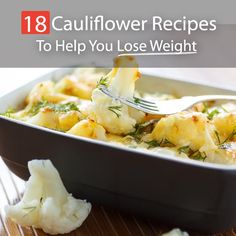 Cauliflowers for losing weight? Yes, the simple, neglected cauliflowers are slowly getting their due. Always been over shadowed by Broccoli as the Superfood, no one paid much attention to the nutritive value of Cauliflowers. They are packed with nutrients and are surprisingly low in calories. What's best is that they are very versatile and can actually be used in such a way that they help you lose weight!