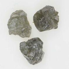 Amazing Silver Gray Color 1.76 Ct Loose Uncut Rough Natural Diamond Lot