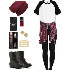 Hipster flannel teen fashio outfit