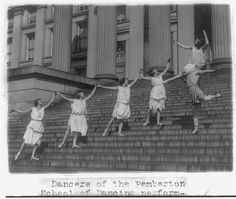 Dancers of the Pemberton School of Dancing performing on Capitol steps Photograph, between 1909 and 1932. National Photo Company Collection, Library of Congress Prints and Photographs Division.