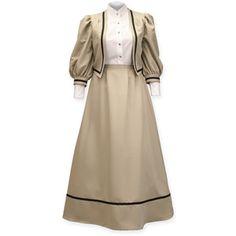 Ladies Edwardian Suit Tan