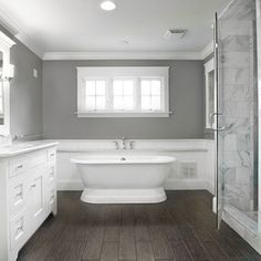 I'm thinking gray bathroom is the way to go!  Houzz | Philly