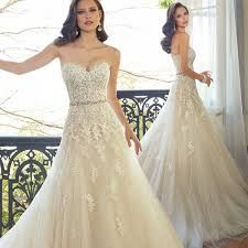 Cheap applique wedding dress, Buy Quality stock wedding dresses directly from China wedding dress Suppliers: 2016 Sweetheart Light Champagne Lace Applique Wedding Dress With Color Beading Sash Bridal Gowns In Stock Robe De Mariage Ivory Lace Wedding Dress, Sexy Wedding Dresses, Wedding Dresses Plus Size, Colored Wedding Dresses, Perfect Wedding Dress, Cheap Wedding Dress, Bridal Dresses, Wedding Gowns, Tulle Wedding
