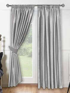 Such A Popular Colour For Silk Curtains This Platinum Curtain Is Light Silver In Tone With Undercurrents Of Grey Will Be The Perfect Companion