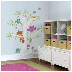 Dotty Hippo - Woodland Baby Birth Tree Giant Wall Stickers, £23.00 (http://www.dottyhippo.co.uk/woodland-baby-birth-tree-giant-wall-stickers/)